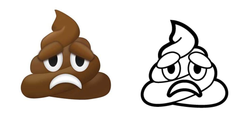 Frowning pile of poo emoji proposal