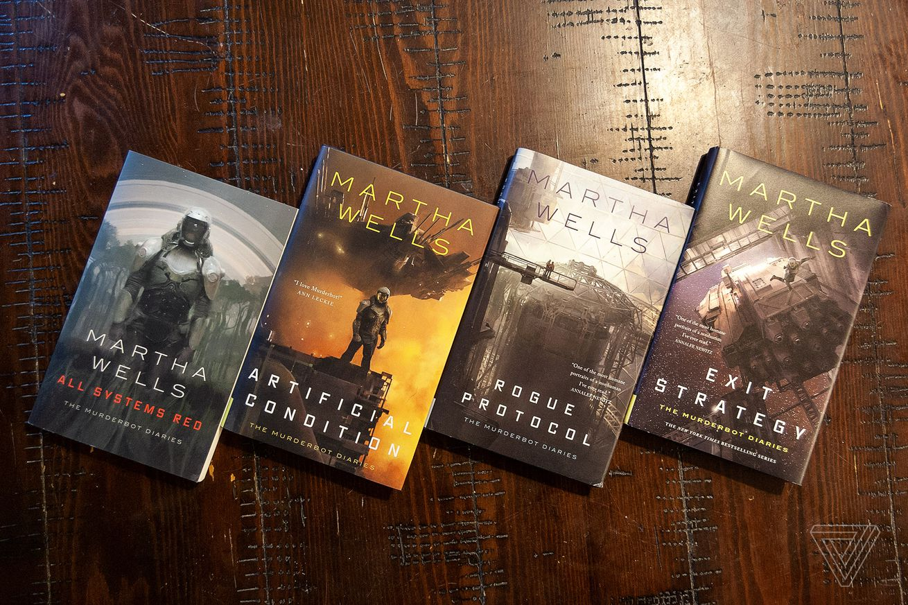 martha wells murderbot series is a fantastic story about what it means to be human