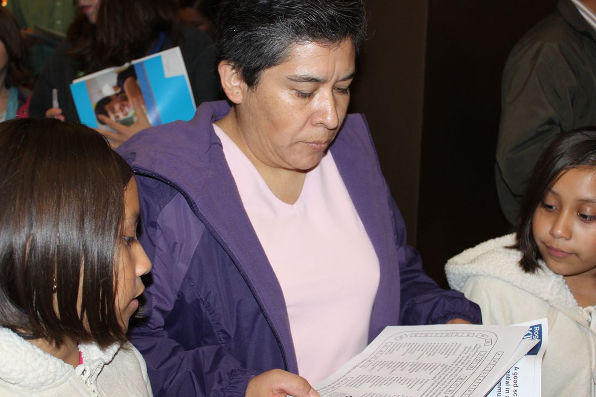 """Families attended a Denver Public Schools """"choice expo"""" in 2011. Photo courtesy DPS."""