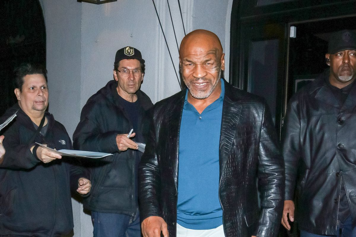 Mike Tyson is seen on March 11, 2020 in Los Angeles, California.