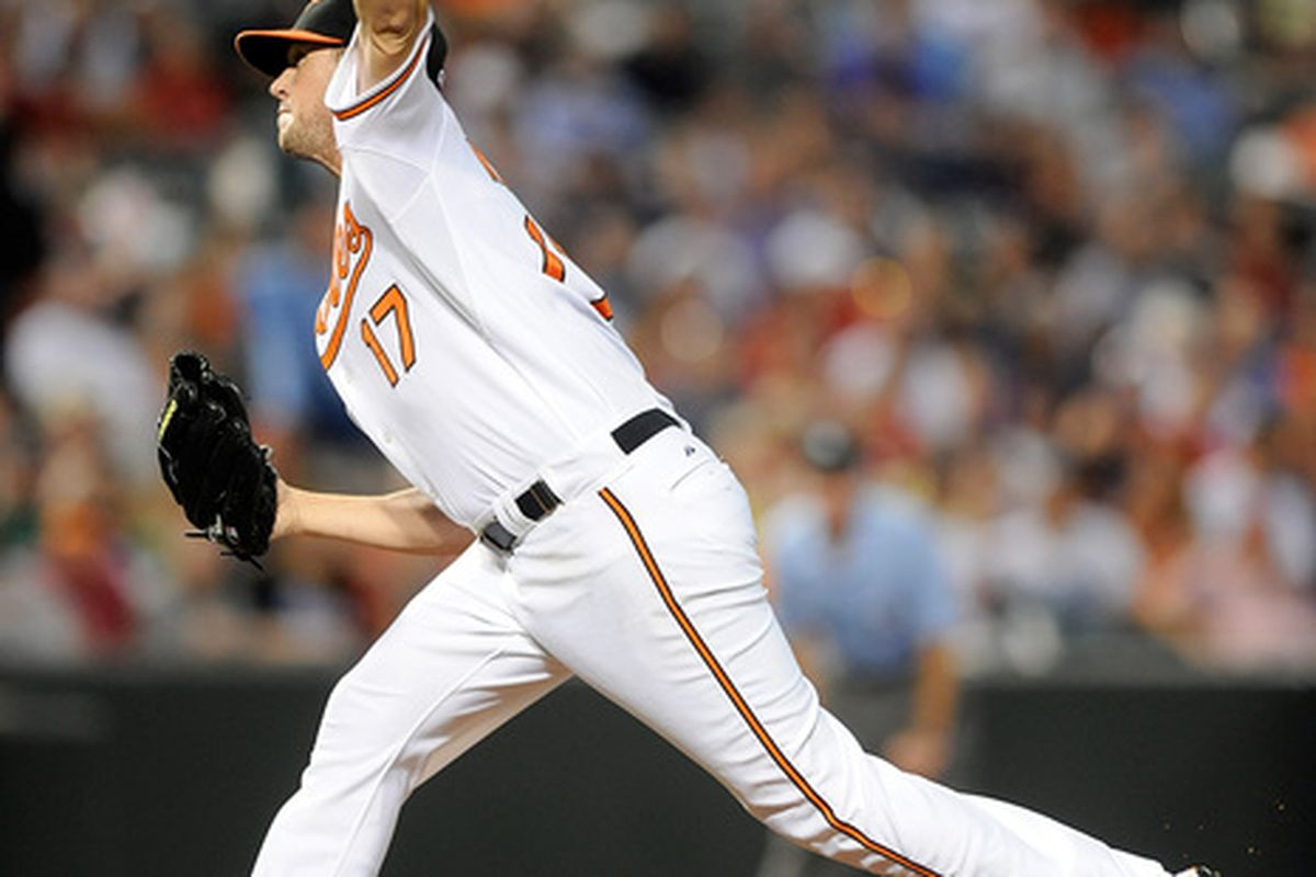 Could Brian Matusz be shut down for the season soon? (Photo by Greg Fiume/Getty Images)