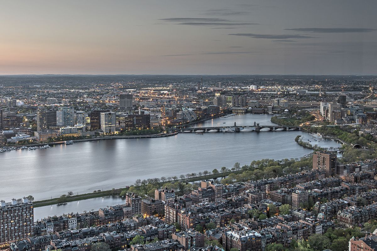 Back Bay from the sky