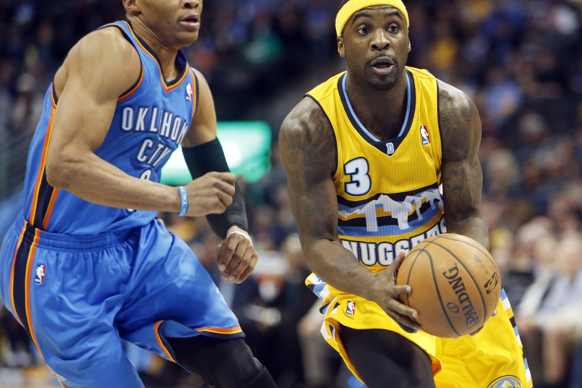 Ty Lawson blows past Russell Westbrook
