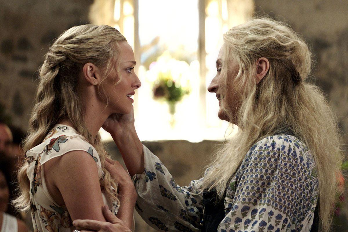 Amanda Seyfried and Meryl Streep in Mamma Mia! Here We Go Again