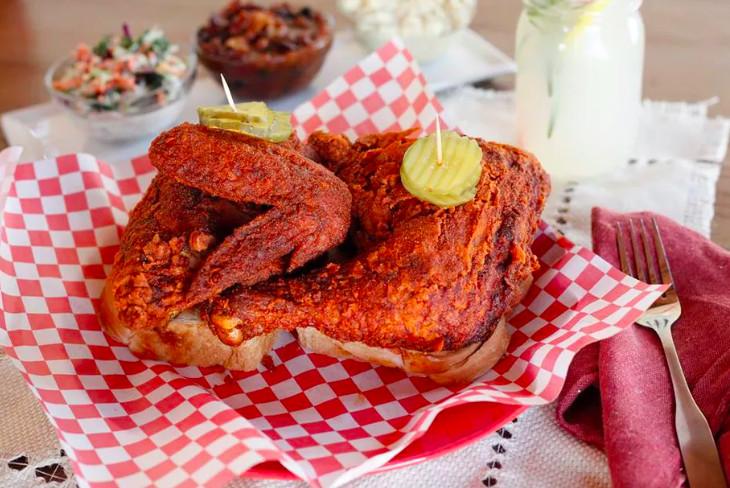 Fried chicken from Hotville Chicken in Baldwin Hills