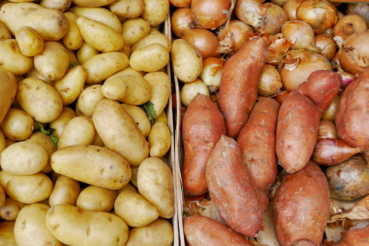 Competition between potato and sweet potato production in the US isn't even close.