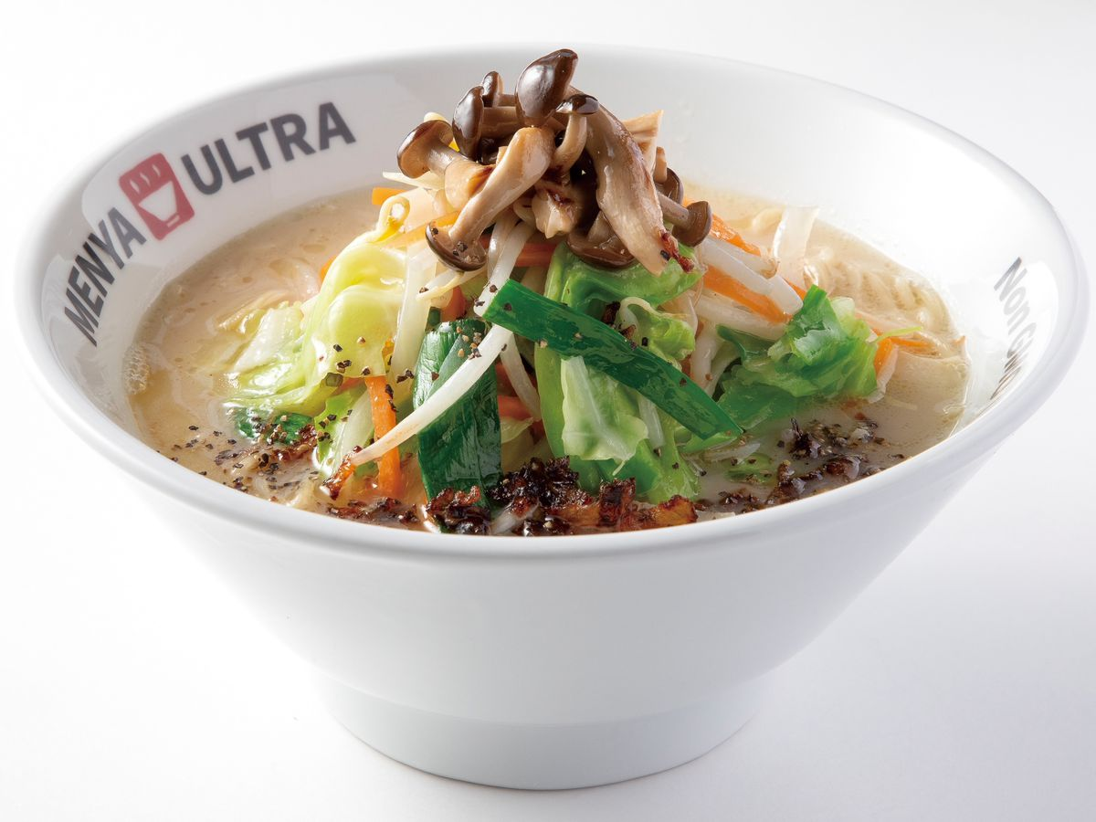 vegan shio ramen at Menya Ultra in Hillcrest