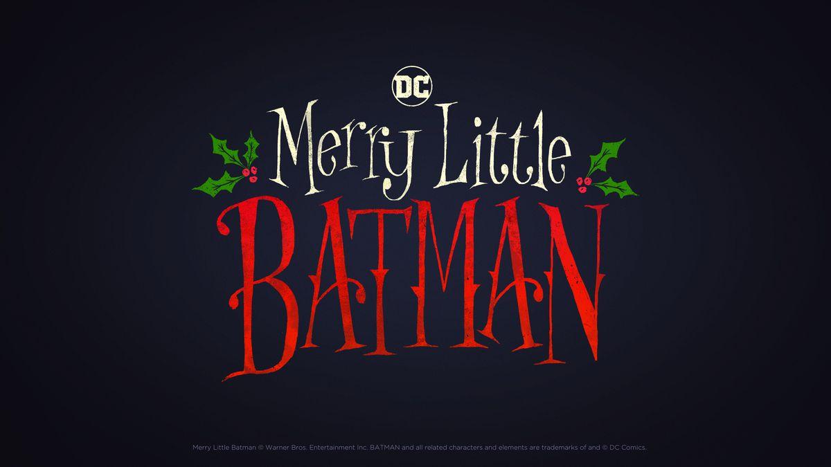 Title treatment for Merry Little Batman