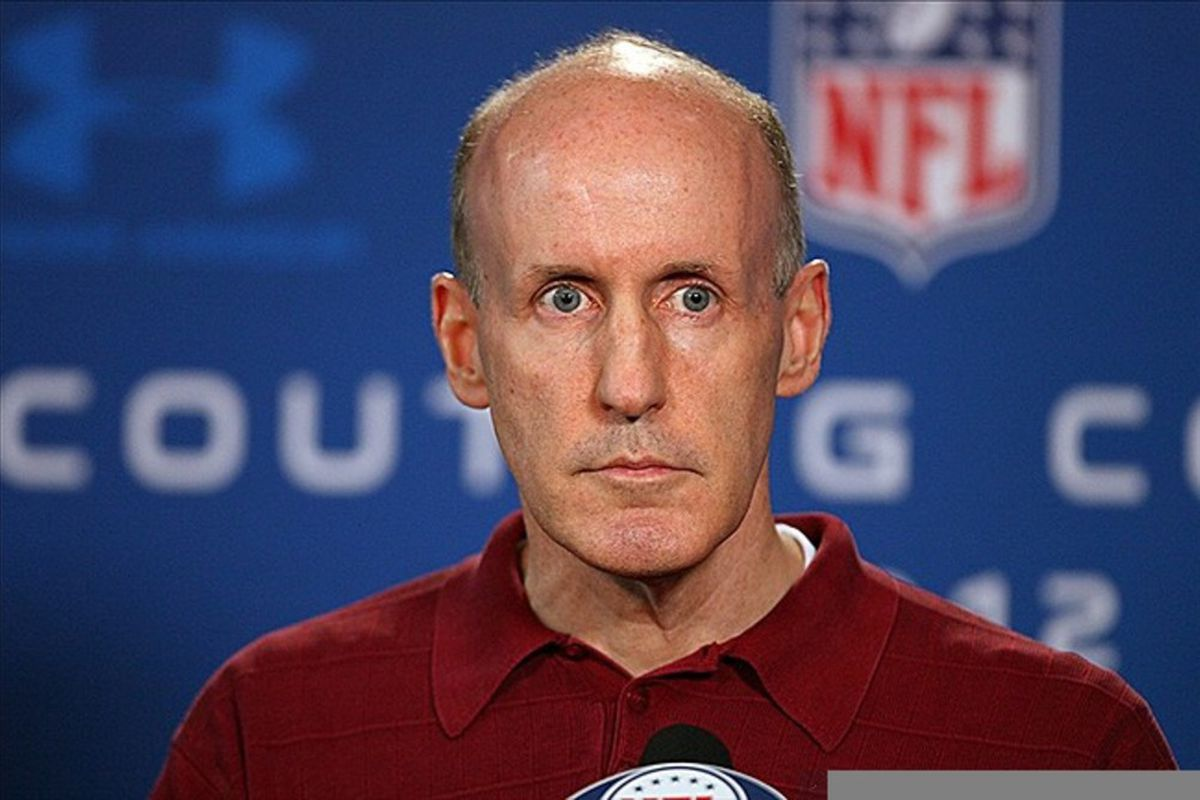 Feb 23, 2012; Indianapolis, IN, USA; Miami Dolphins coach Joe Philbin speaks at a press conference during the NFL Combine at Lucas Oil Stadium. Mandatory Credit: Brian Spurlock-US PRESSWIRE