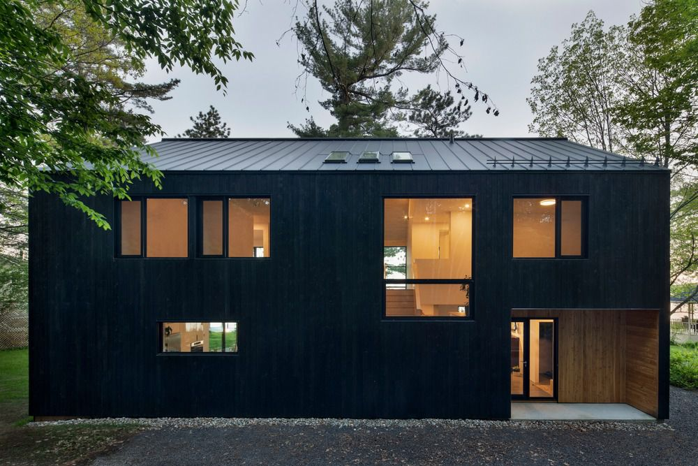 Back of house clad in charred timber