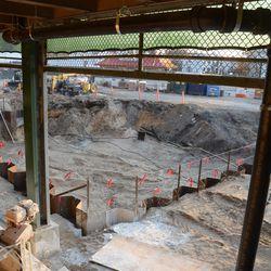 6:33 p.m. Plaza entrance construction area -