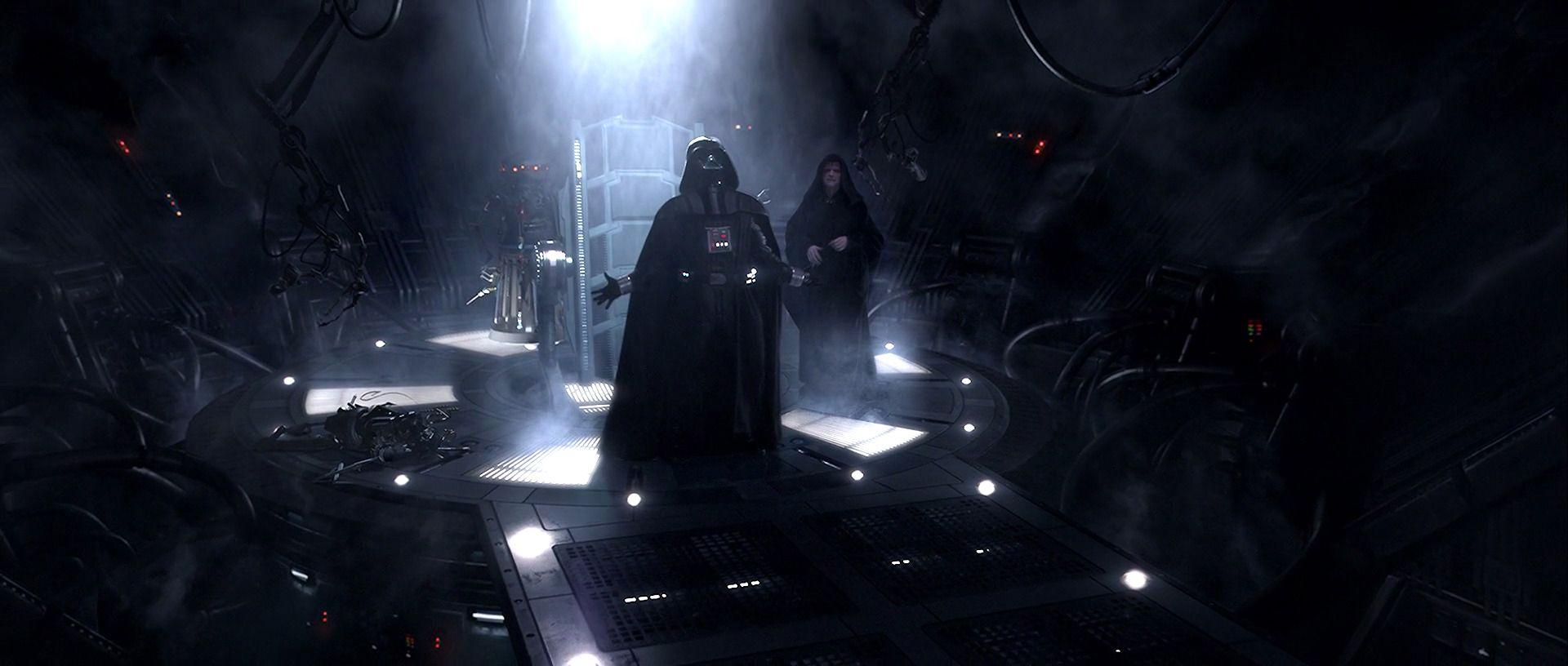Star Wars Episode III: Revenge of the Sith - Darth Vader with Emperor Palpatine behind him