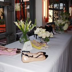 Table display of Julianne Hough for Sole Society collection