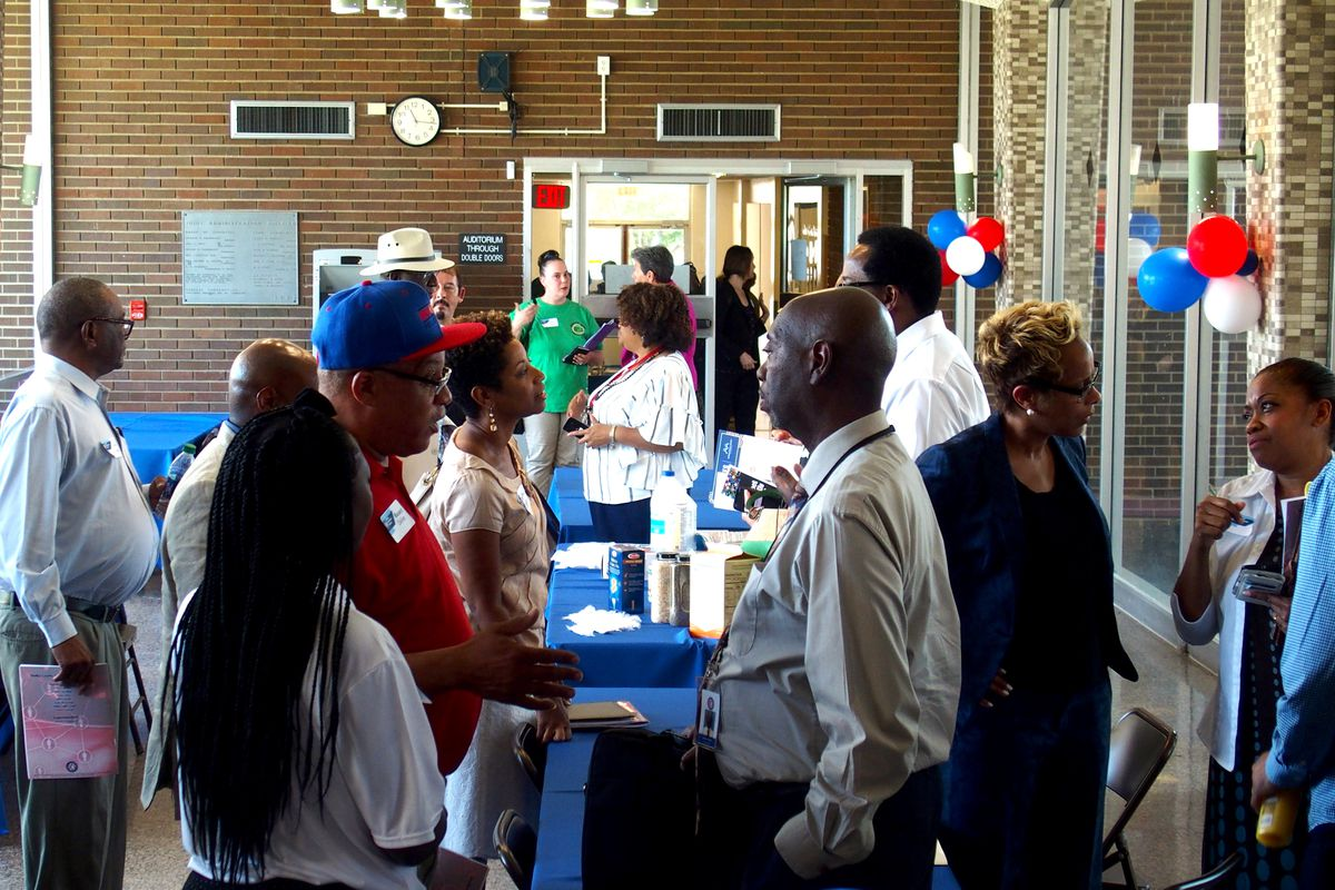 Shelby County Schools hosted a networking event for businesses owned by people of color and white women on Thursday.