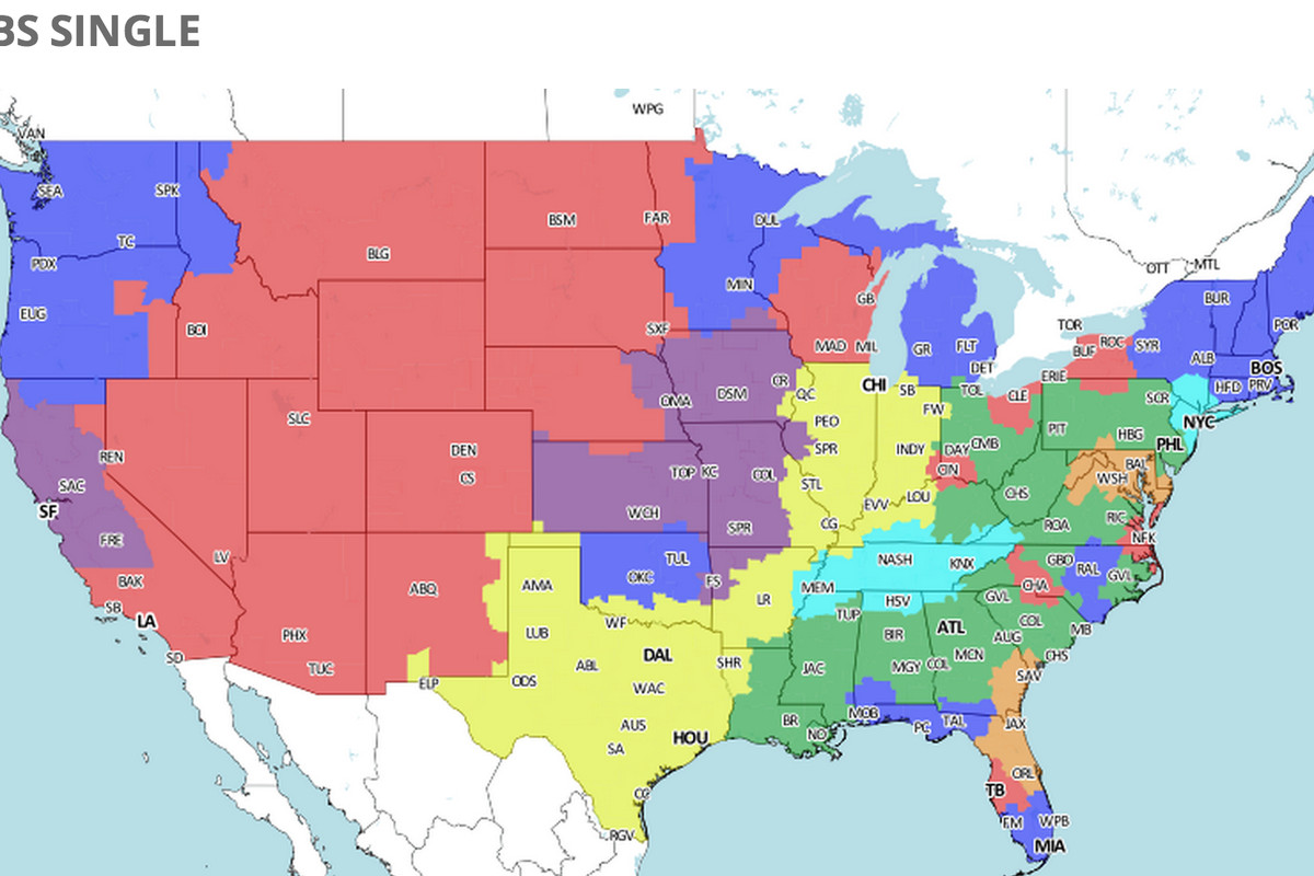 Denver broncos at san diego chargers tv broadcast map nfl week 15 courtesy of 506sports heres a broadcast map for the broncoschargers week 15 game if youre in the red youll get the game on your local cbs station publicscrutiny Image collections