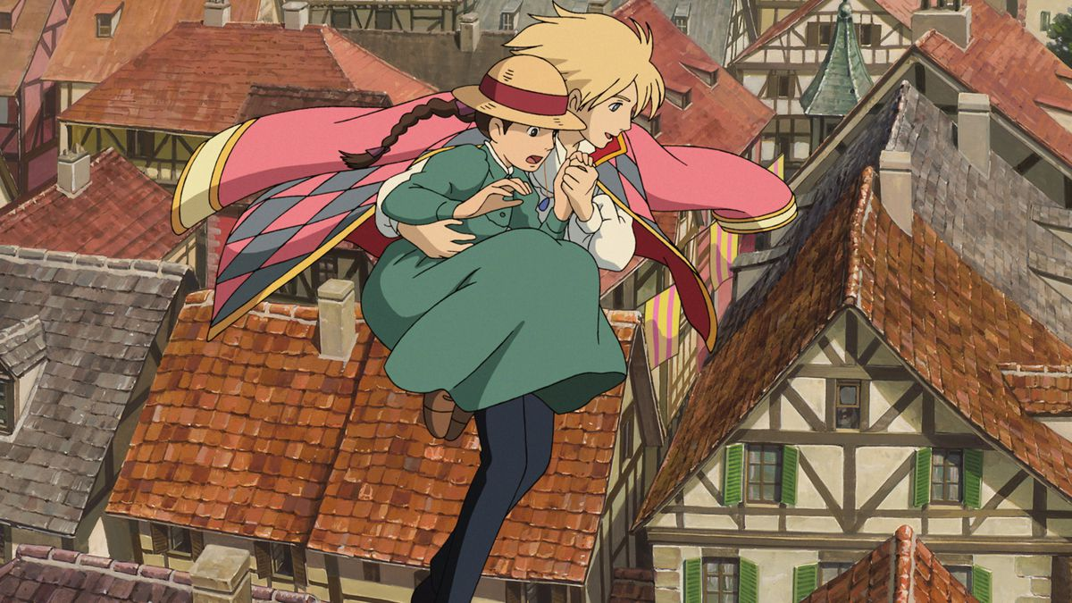 howl guides sophie across the rooftops
