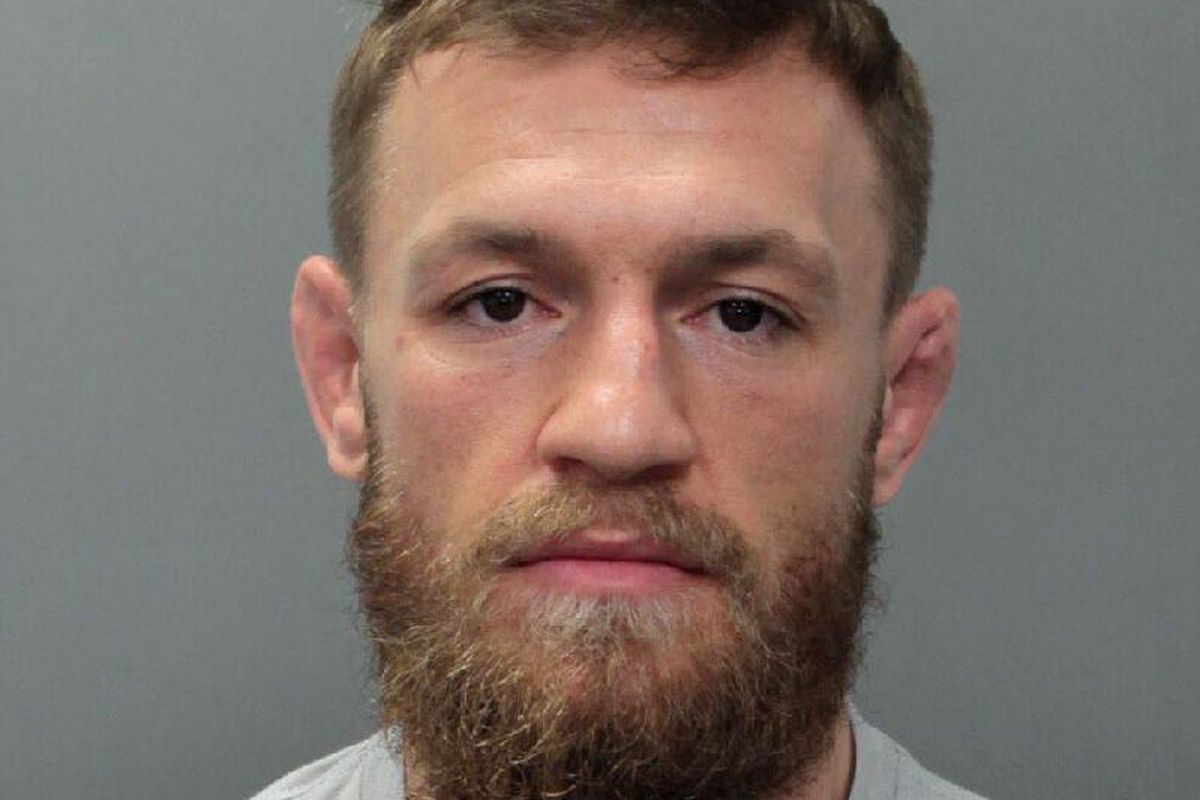This photo provided by the Miami-Dade Corrections and Rehabilitation Department shows Conor McGregor. Authorities say mixed martial artist and boxer Conor McGregor has been arrested in South Florida for stealing the cellphone of someone who was trying to