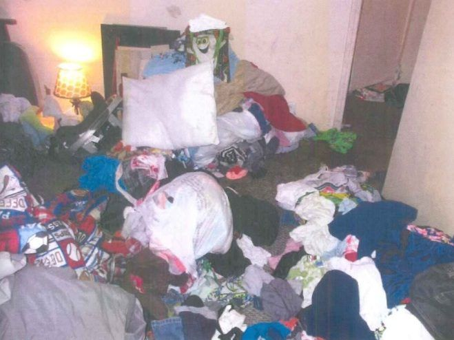 The inside of the Joliet Township home where 17-month-old Semaj Crosby was found dead in April 2017. | Photo provided by Will County Land Use Department.