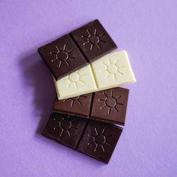 Solstice Chocolate pieces. The artisan chocolate company opened in 2012 in Murray.