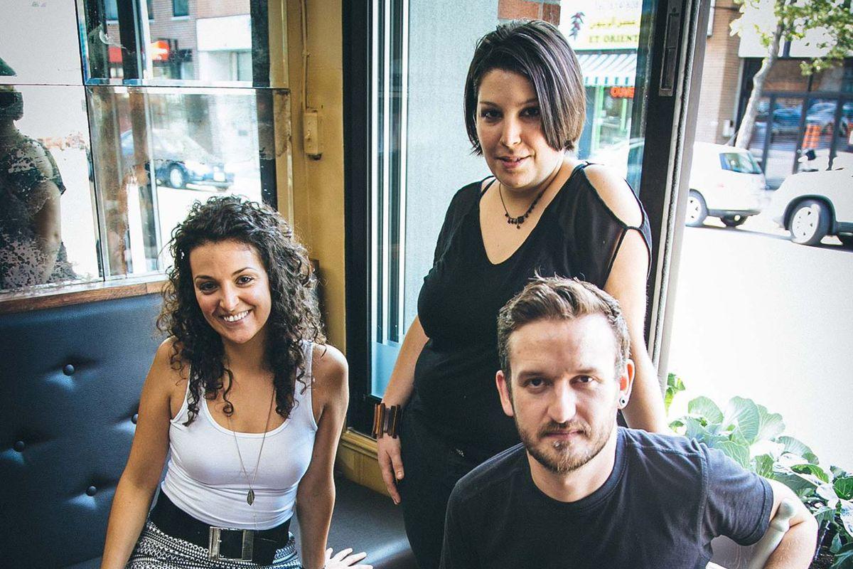 EVOO's Claudie Harvey, Sophie Ouellet and Peter Saunders