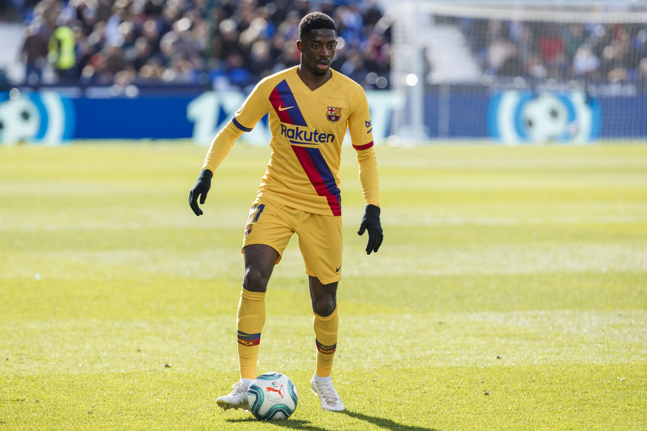Report says Dembélé will not be ready for Napoli, Barça try to offer hope
