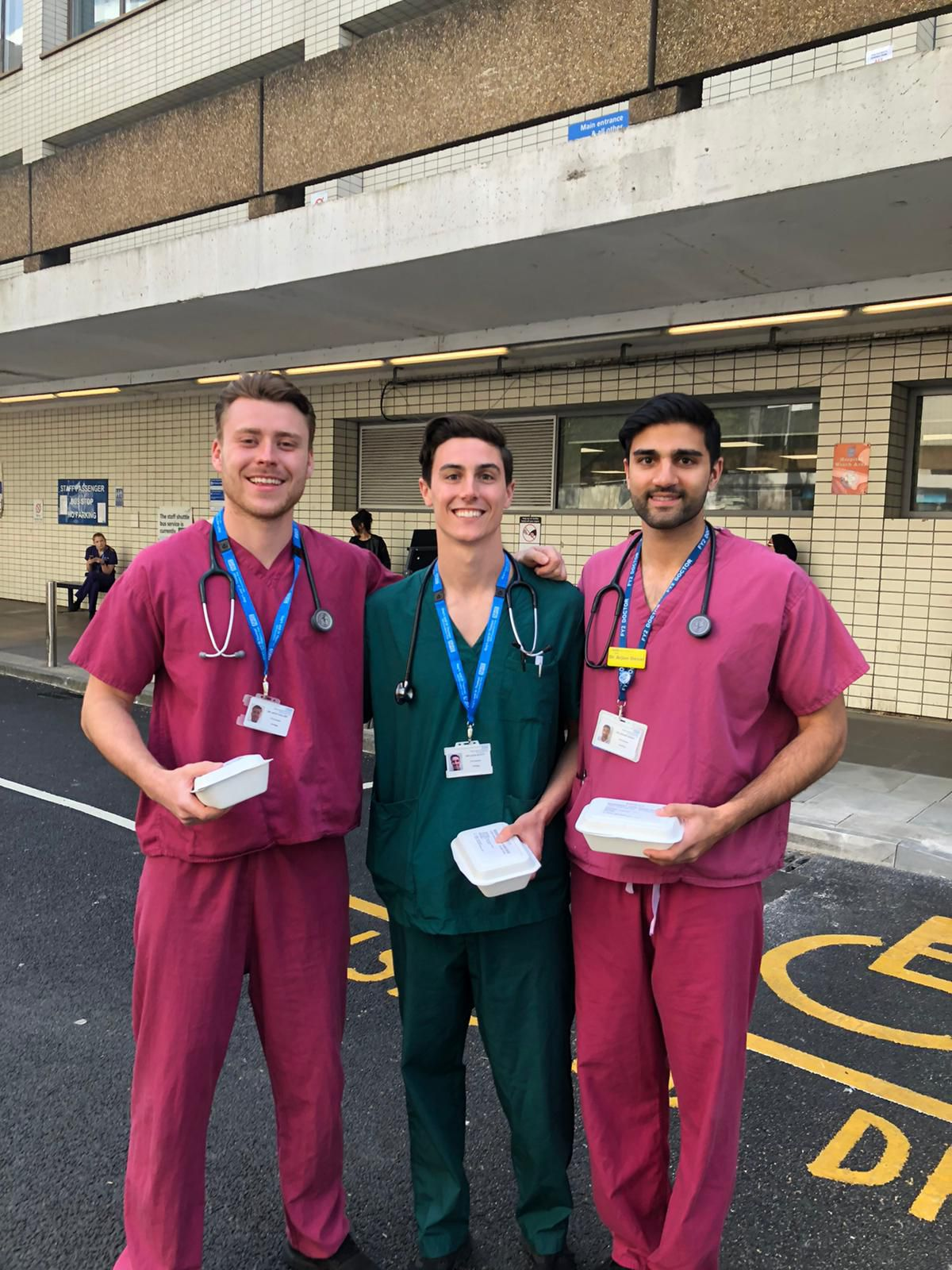 NHS staff doctors receive meals from Deliver Aid — meals prepared by some of London's best chefs
