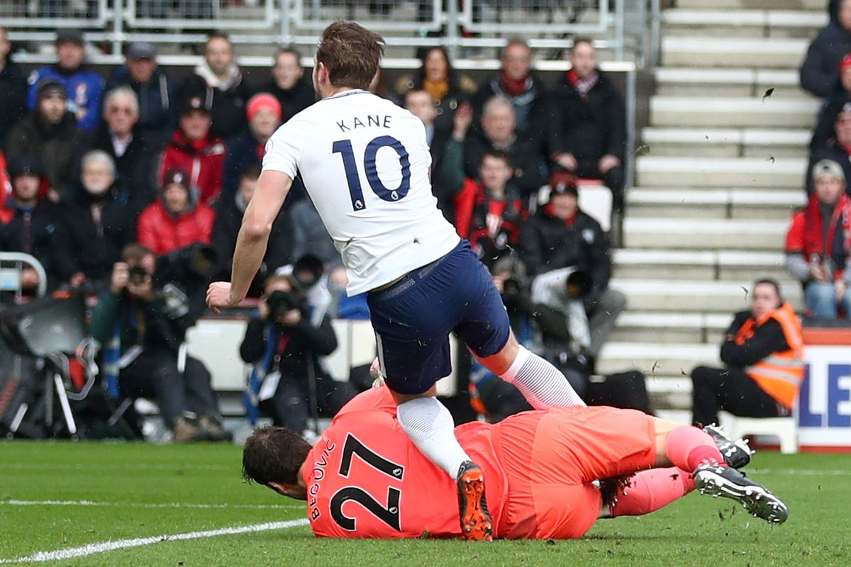 Harry Kane suffers 'potential ligament injury' during Spurs' visit to Bournemouth