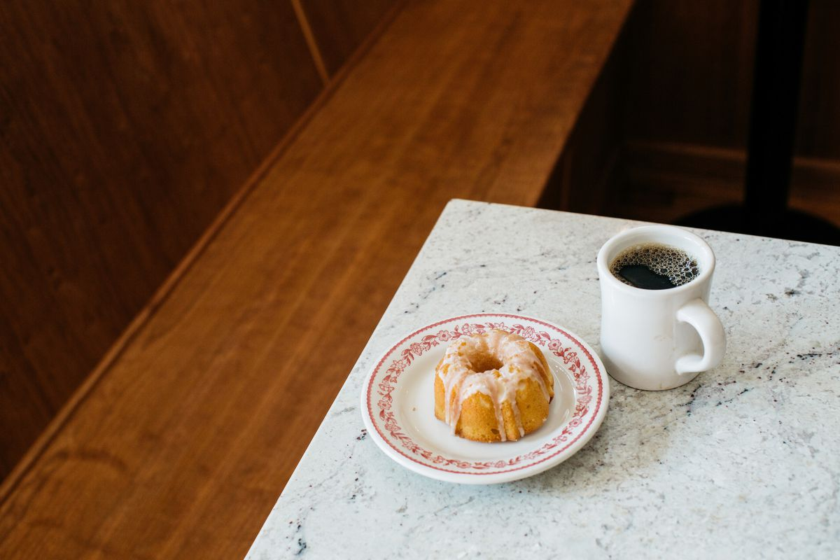 Coffee and pastries from Red Hook Coffee