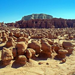 Goblin Valley State Park is about an hour away from both the Green River and Capitol Reef National Park.