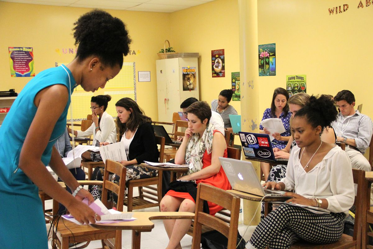 Teach For America corps members participate in a leadership summit in 2015 in Memphis.