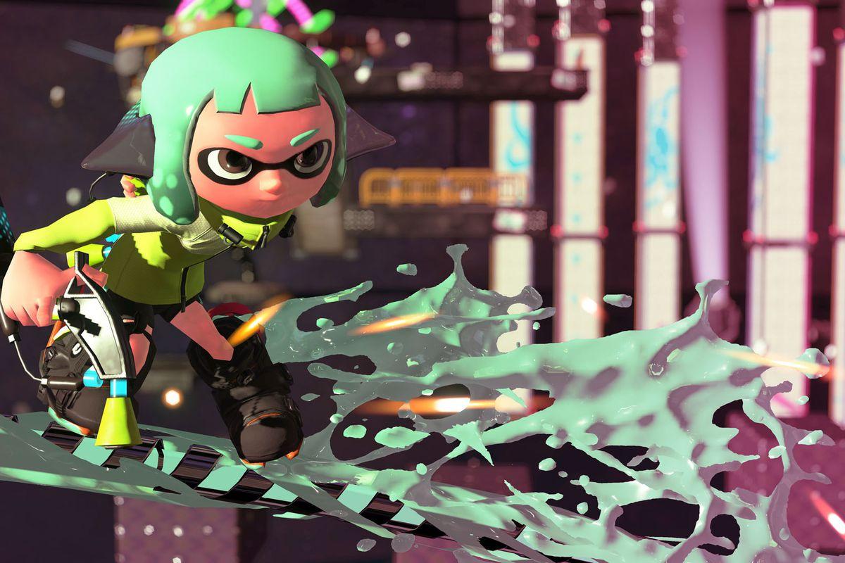 Splatoon 2 - green ink