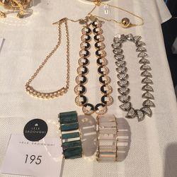 Lele Sadoughi necklaces and bracelets, $195