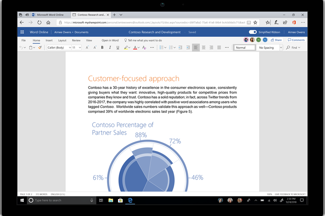 microsoft office s new fluent design overhaul makes it easier to use