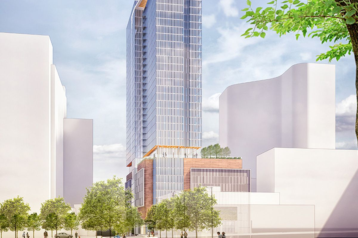 A new sky rise planned to rise up in Midtown, over Peachtree Street.