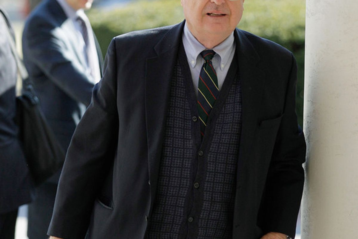 Cincinnati Bengals owner Mike Brown arrives at a hotel fora  meeting with NFL owners on March 2, 2011 in Chantilly, Virginia.