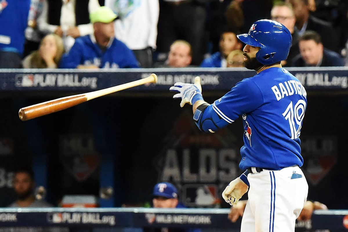 What, you didn't think I would post a piece about the Blue Jays and NOT use the BAT FLIP pic did you?