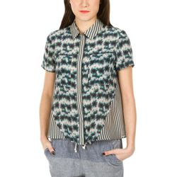 """<b>Suno</b> Seamed Short Sleeve Button Down, <a href=""""http://www.openingceremony.us/products.asp?menuid=2&designerid=293&productid=74380&key=suno"""">$380</a> at Opening Ceremony"""