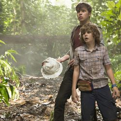 """Nick Robinson and Ty Simpkins star in """"Jurassic World."""""""