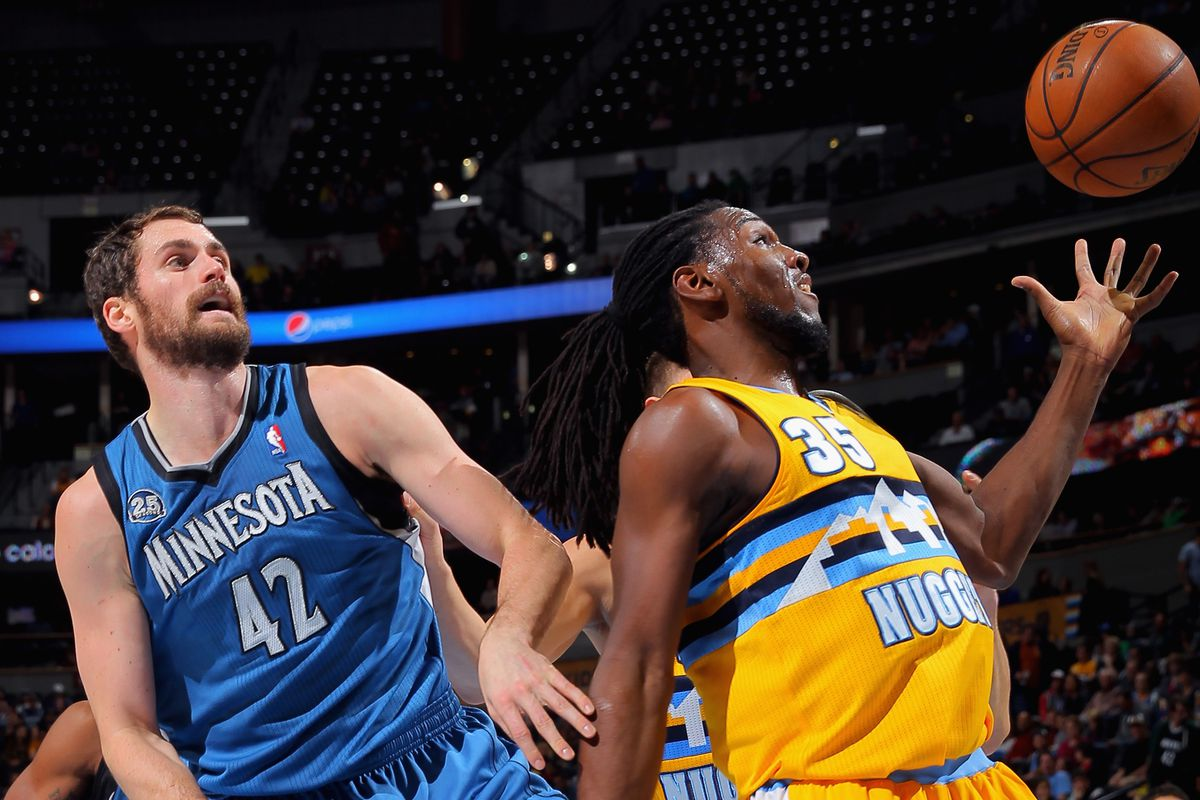 Kevin Love and Kenneth Faried