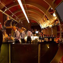 A view of the bar inside the Chunnel at Gordon Ramsay Steak.