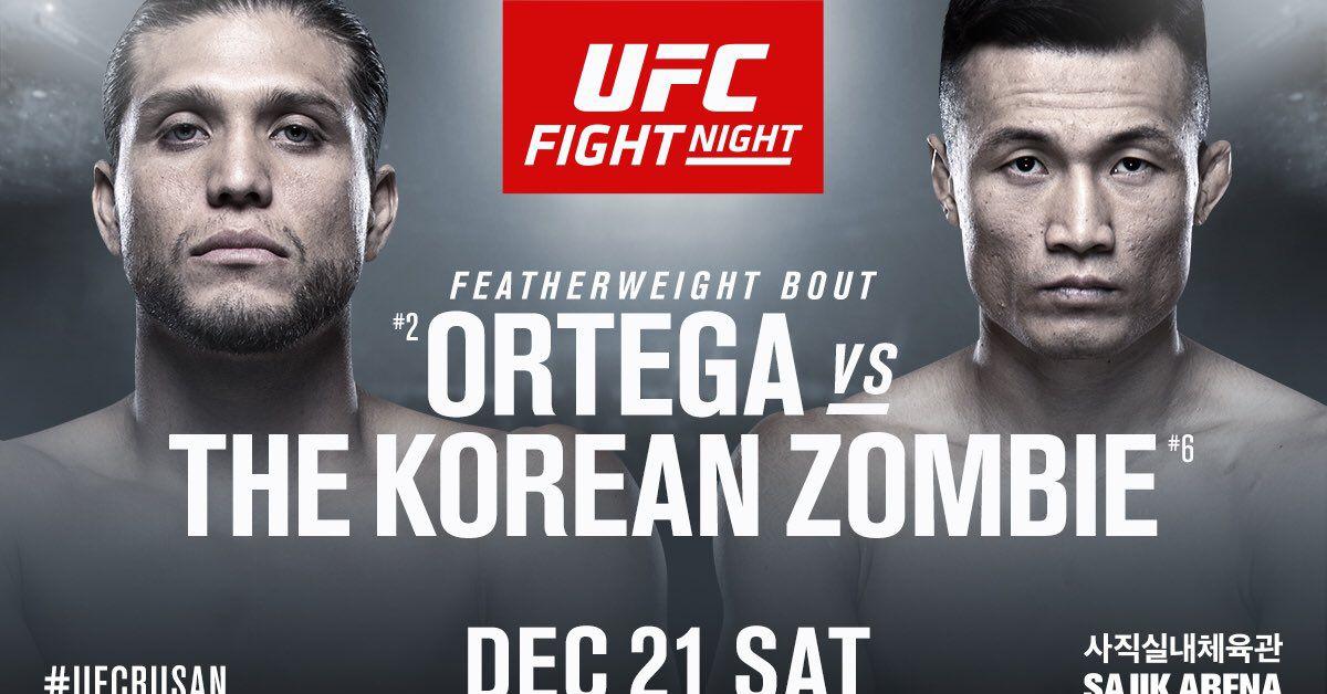Latest UFC Busan Fight Card, ESPN+ Line Up