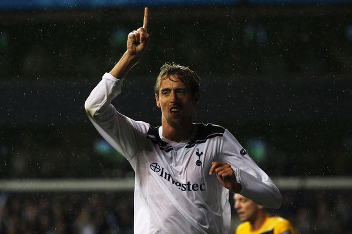 One. It's all you're getting, Villa--according to Peter Crouch. (Photo by Clive Rose/Getty Images)