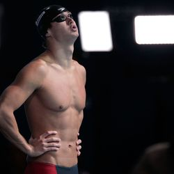 Nathan Adrian of the USA prepares to compete in the Swimming Men's 100m Freestyle Semifinal.