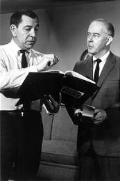 "Jack Webb, left, and Harry Morgan in the ""Dragnet"" revival series."