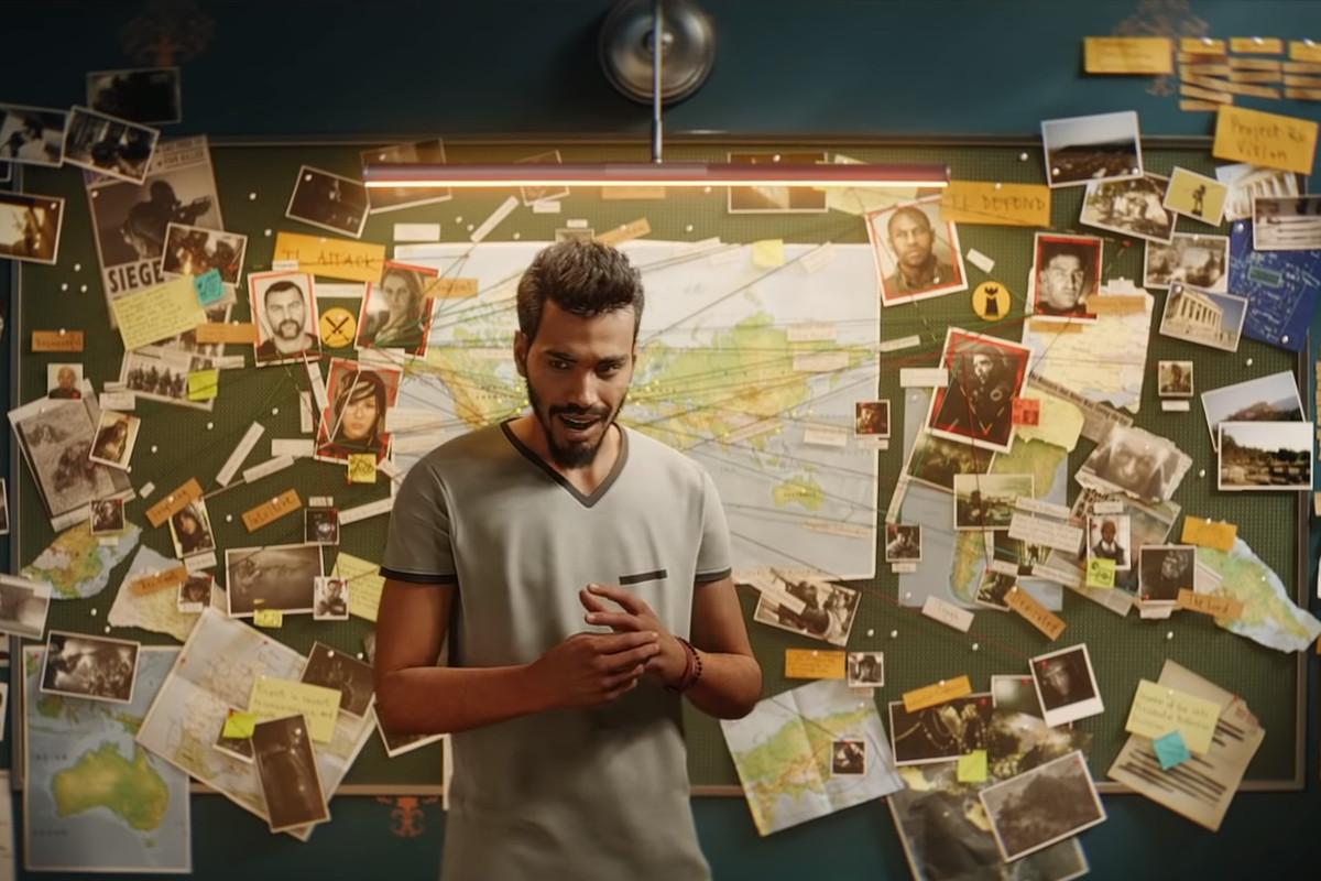 Rainbow Six Siege - a shot of Six planning the future
