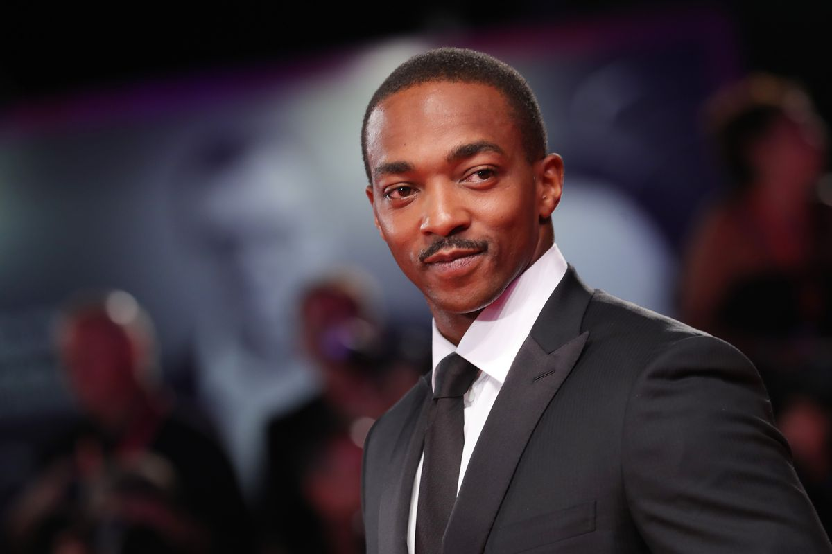 Anthony Mackie walks the red carpet ahead of the Seberg screening during the 76th Venice Film Festival