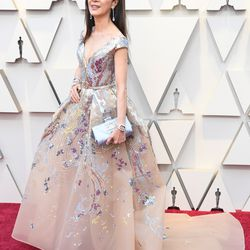 Actress Michelle Yeoh arrives for the 91st Annual Academy Awards. | Mark Ralston / AFP/Getty Images