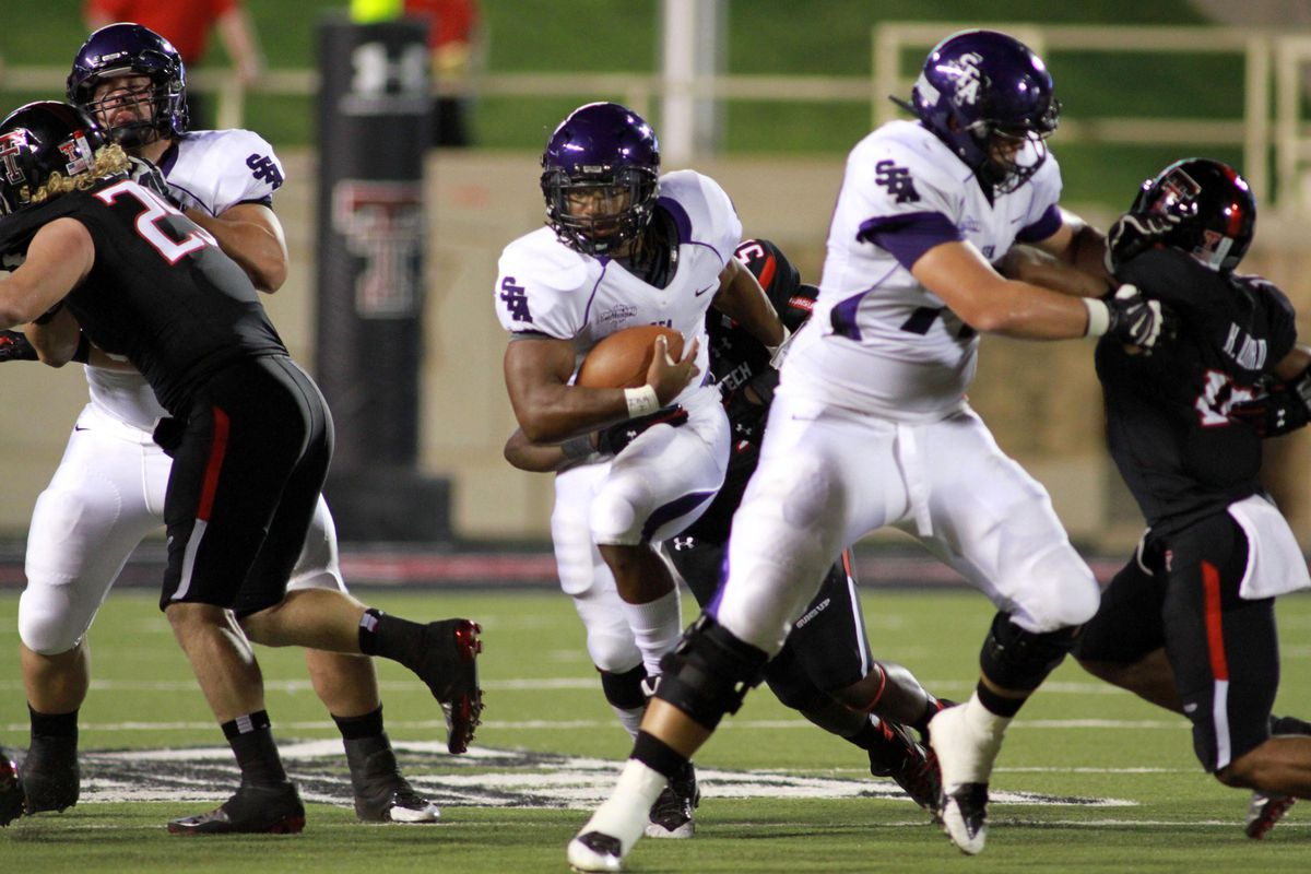 Gus Johnson returns to SFA's backfield. No word on whether he gets really, really excited about every big play.