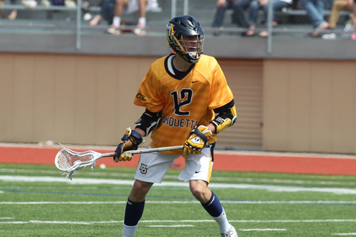 Tyler Melnyk had a program record eight points, but it was Conor Gately (above) that had the game winner in MU's first ever Big East victory.