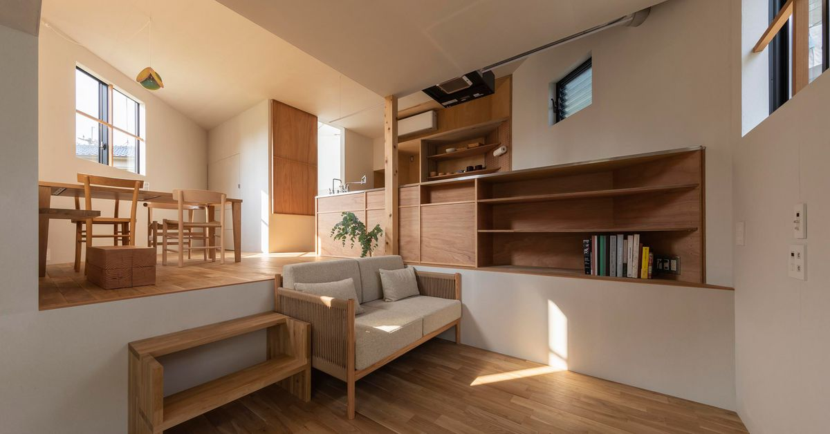 Wild Japanese home spreads over 16 different levels